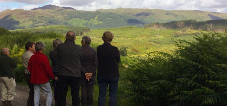 Strathard Initiative - View over Kinlochard as part of the Forest Visit for communities - July 2016